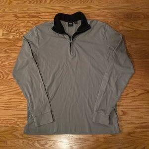 Grey Hugo Boss quarter zip Size - M